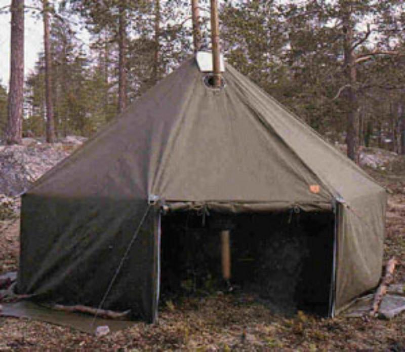 Palosuojattu teltta